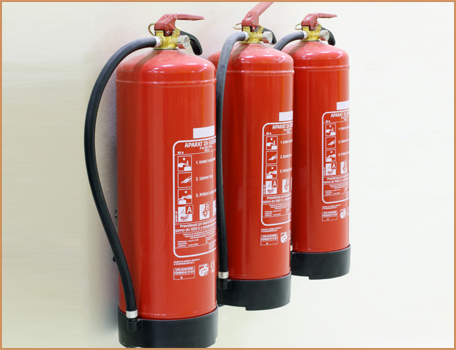 Wall-Mounted Fire Extinguishers